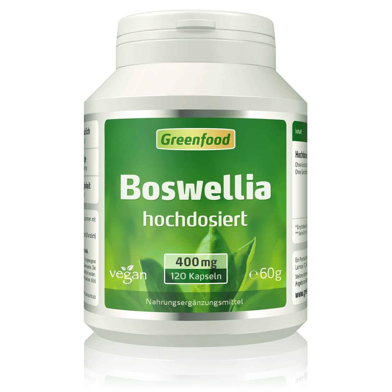 Weihrauch (Boswellia serrata), 400 mg, hochdosiert, 120 Vegi-Kapseln – mit 65% Boswelliasäuren. OHNE künstliche Zusätze. Ohne Gentechnik. Vegan.