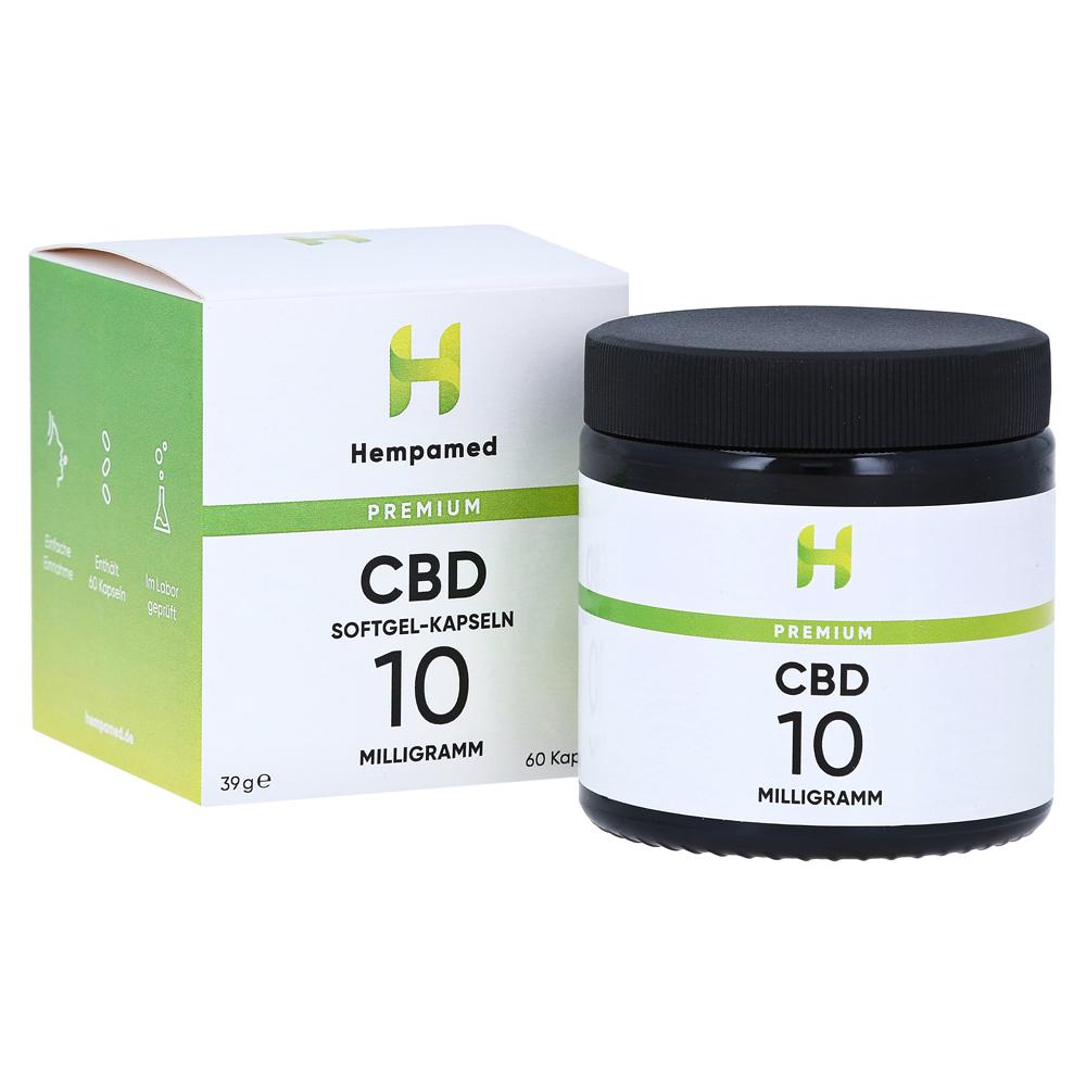 HEMPAMED Premium CBD Kapseln mit 10 mg CBD