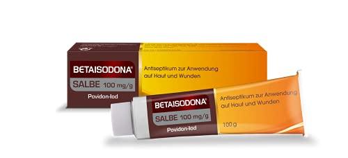 Betaisodona® Salbe 100 g Wunddesinfektion für Erwachsene und Kinder ab 6 Monaten, Wunddesinfektionsmittel ohne Alkohol mit PVP-Iod – brennt nicht