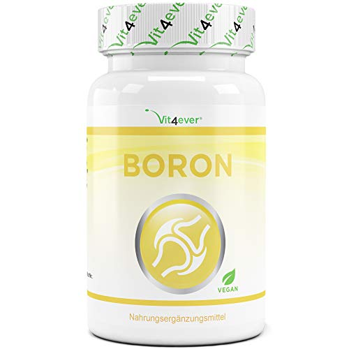 Boron - 3 mg reines Bor je Tablette - 365 Tabletten im Jahresvorrat - Laborgeprüft (Wirkstoffgehalt & Reinheit) - Ohne unerwünschte Zusätze - Hochdosiert - Vegan
