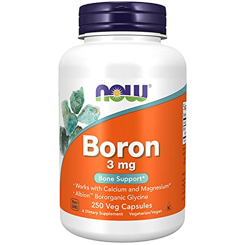 Now Foods   Boron   3 mg   250 Kapseln   hochdosiert   ohne Gentechnik   Glutenfrei   Sojafrei   Bor