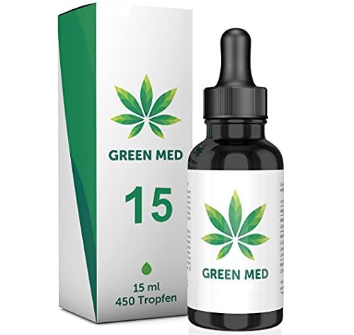 GREEN MED ®   15 Prozent - Oil   Premium Hanfsamenöl   100% Natürlich   100% Wirksam   Made in Germany